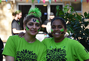 UnIHallers dressed up in face paint for the fresher festival