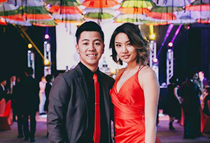 A UniHall couple at the ball