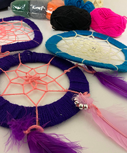 Image of dreamcatcher created in the workshops
